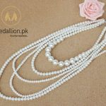 Multilayer Imitation Pearl Statement Necklace.-129