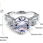 Visisap White gold color ring 8ct clear cubic zirconia Rings For Men women Wedding vintage bague fashion jewelry VSR289 1