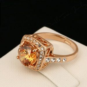 Rose Gold Plated Cubic Zirconia High Quality Ring. -115
