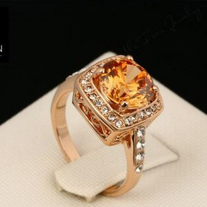 Rose Gold Plated Cubic Zirconia High Quality Ring. -0