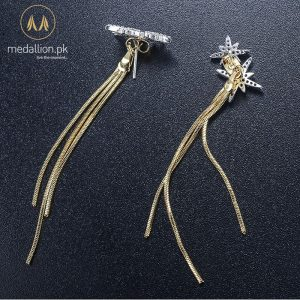 Elegant Trendy Cubic Zirconia Tassel Dangle Earrings.-260