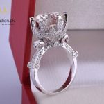 White Gold Plated 8ct Clear Cubic Zirconia Ring. -0