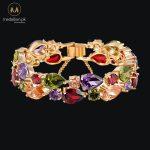 Gold Plated Multi Color AAA Zircon Bracelet. -0
