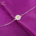 Surou Summer S925 Silver Little Daisies Silver Golden Sunflower Chrysanthemums Clavicle Women Bracelet Fashion Simplicity Anklet 1