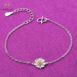 925 Sterling Silver Little Daisy Bracelet for Girls-0