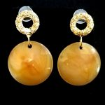 Vintage Gold Color Round Drop Earrings-0