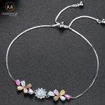 Multicolor White Gold Plated AAA+ CZ Bracelet-0