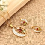Stainless Steel Gold Plated Multicolor Jewelry Set-743