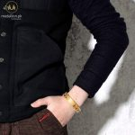 BIG J.W Casual Gold Color Bike Chain Bracelets Bangles for Men Jewelry Stainless Steel Biker Bicycle Motorcycle Chain Bracelet 2