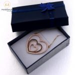 MHS.SUN Fashion Love Heart Zircon Pendant Necklaces For Women Jewelry Gold Color Chain Necklace CZ Crystal Christmas Gifts 1PC 1