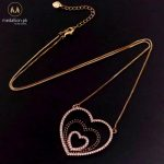 MHS.SUN Fashion Love Heart Zircon Pendant Necklaces For Women Jewelry Gold Color Chain Necklace CZ Crystal Christmas Gifts 1PC 2