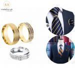 Fashion Quality Men Tie Ring Gold Metal 3